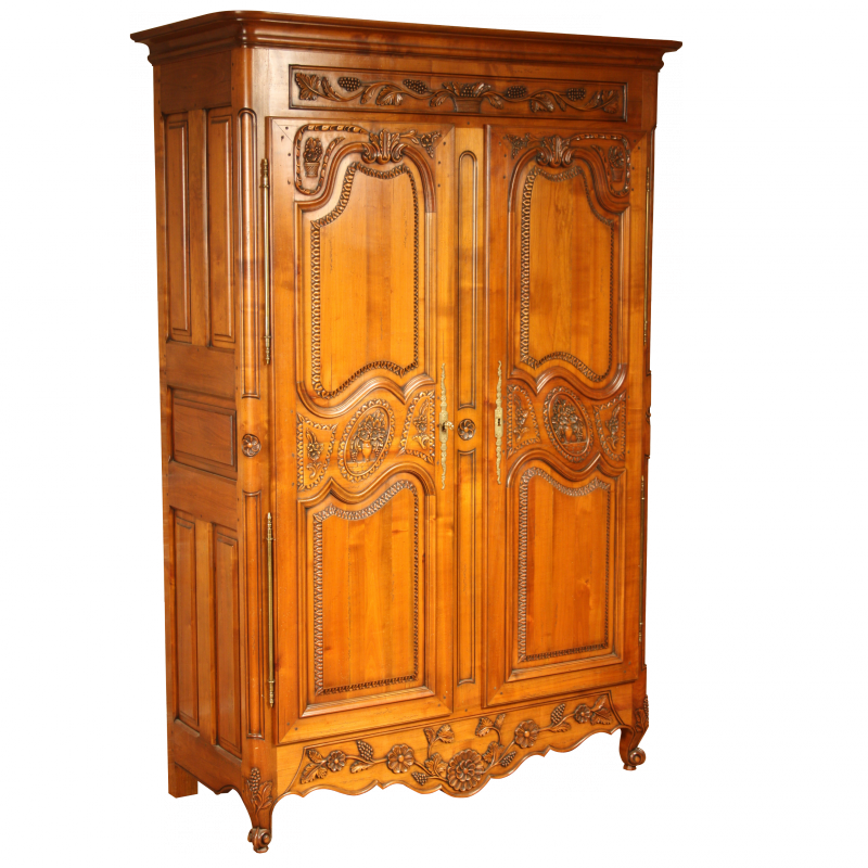 armoire combourgeoise style louis xv louis xv ateliers. Black Bedroom Furniture Sets. Home Design Ideas