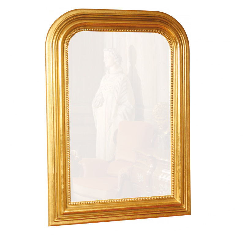 Miroir hom re perl e style louis philippe louis philippe for Miroir style louis philippe
