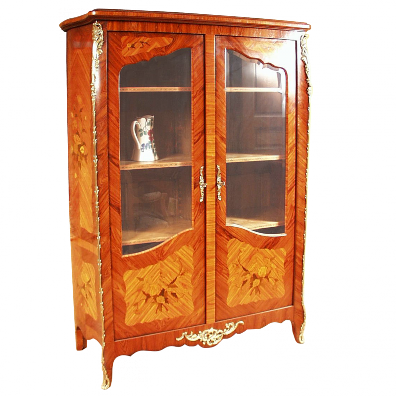vitrine dubois style louis xv louis xv ateliers allot meubles et si ges de style. Black Bedroom Furniture Sets. Home Design Ideas