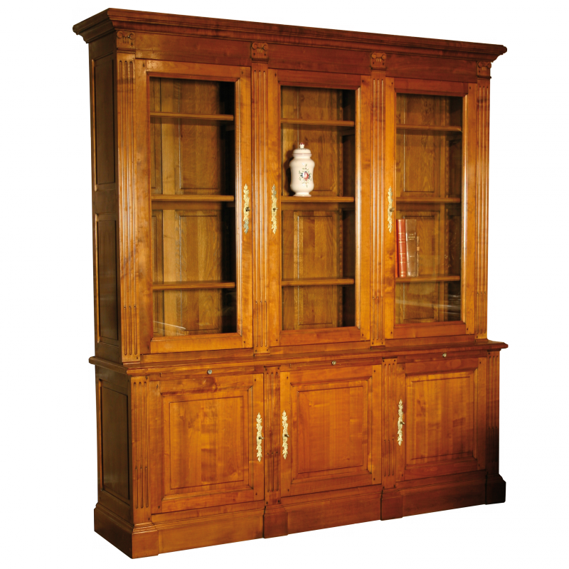 biblioth que rousseau style louis xvi louis xvi ateliers allot meubles et si ges de style. Black Bedroom Furniture Sets. Home Design Ideas